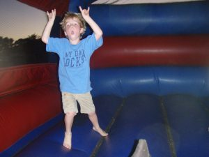 Photo of child in Moonbounce